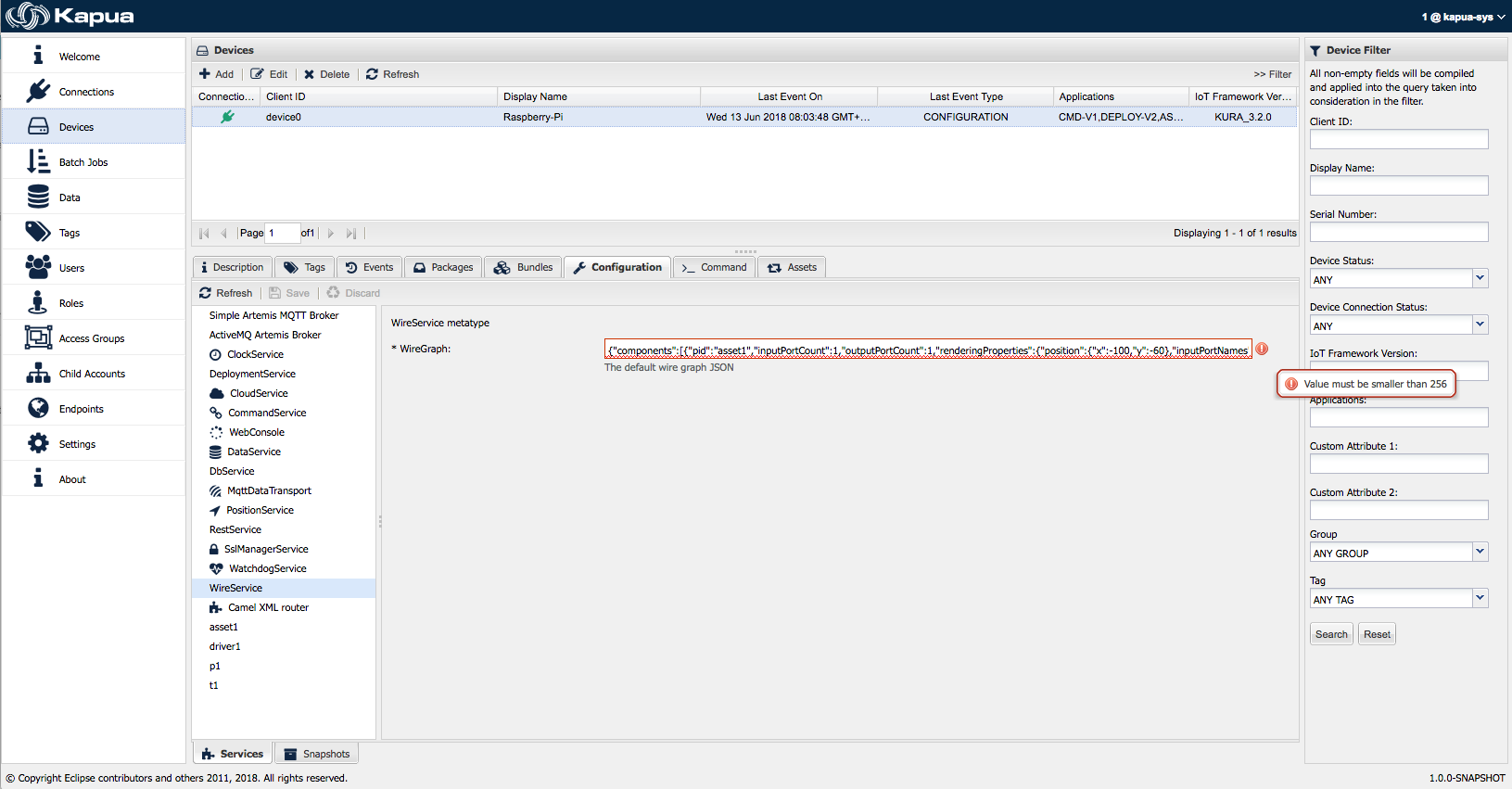 Wire Graph Configuration Marked as Invalid · Issue #1800 · eclipse ...