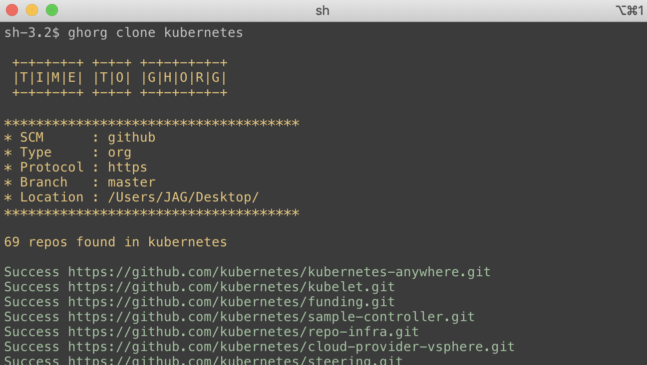ghorg cli example
