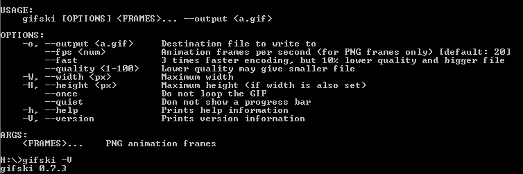 fast parameter makes Gifski crash under windows · Issue #24
