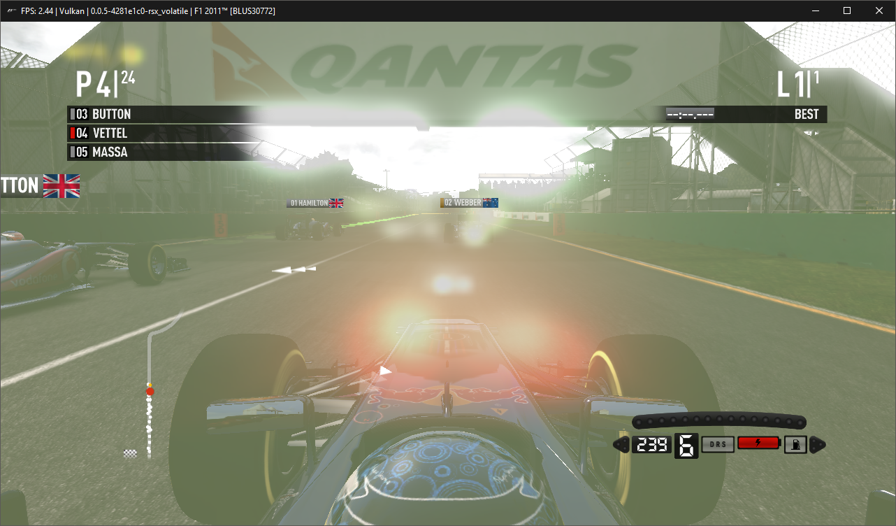 F1 2011 [BLUS30772]: vertex shaders were not succesfully