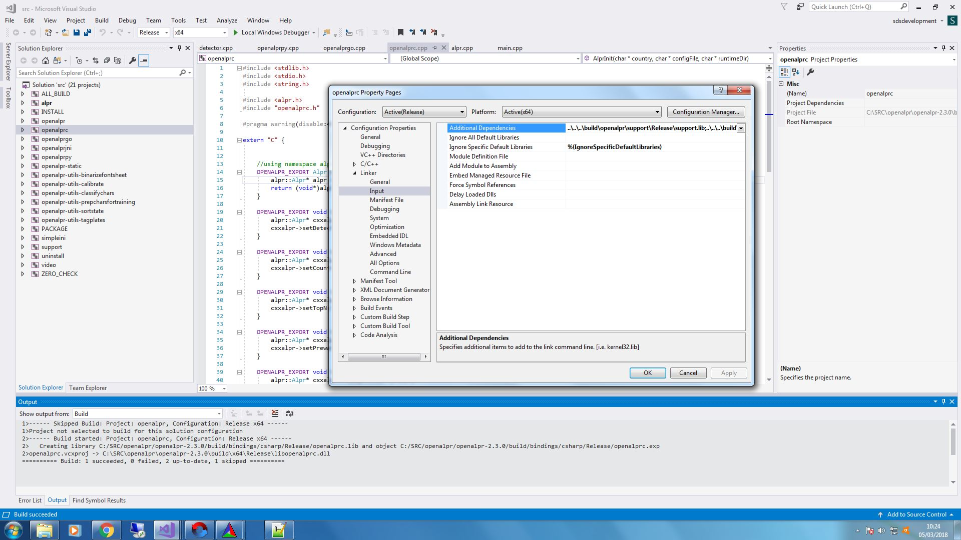 How can I import OpenALPR into Visual studio? · Issue #638