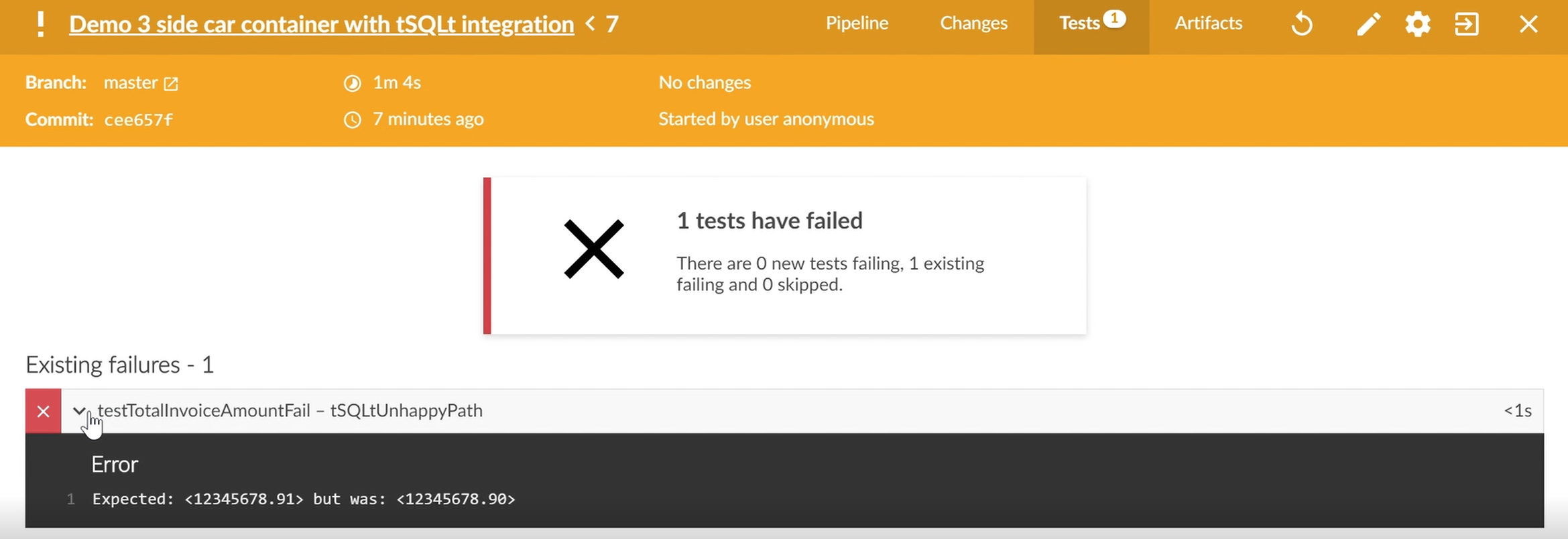 unhappy path tests