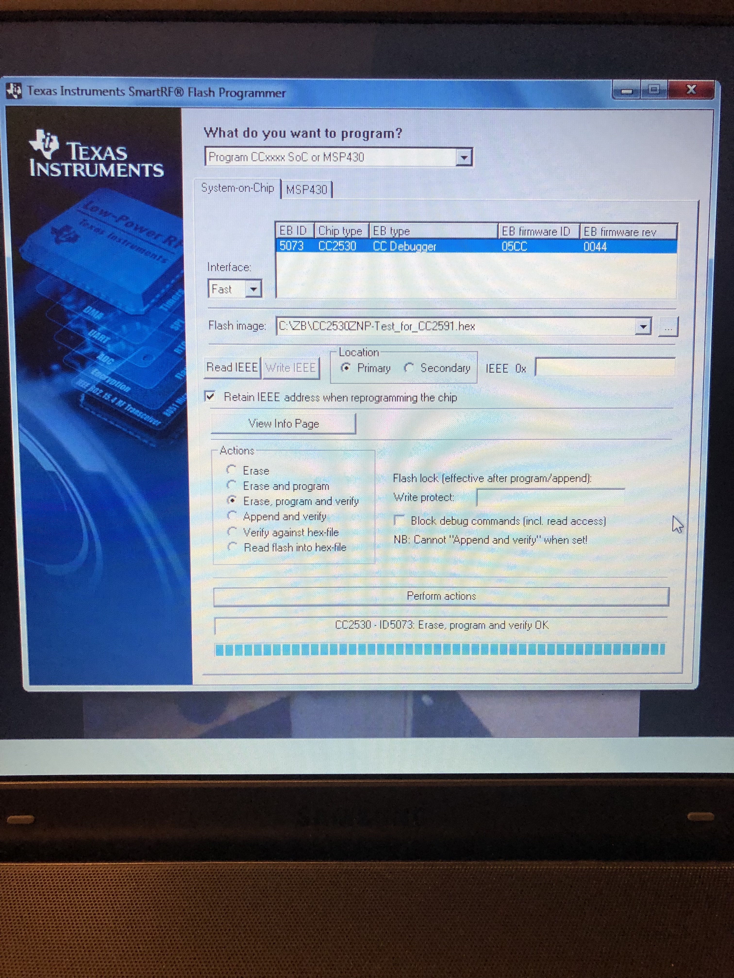 Cc2530+RFX2401 not detected by ccdebugger · Issue #124 · Koenkk