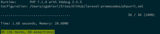 laravel-promocodes tests