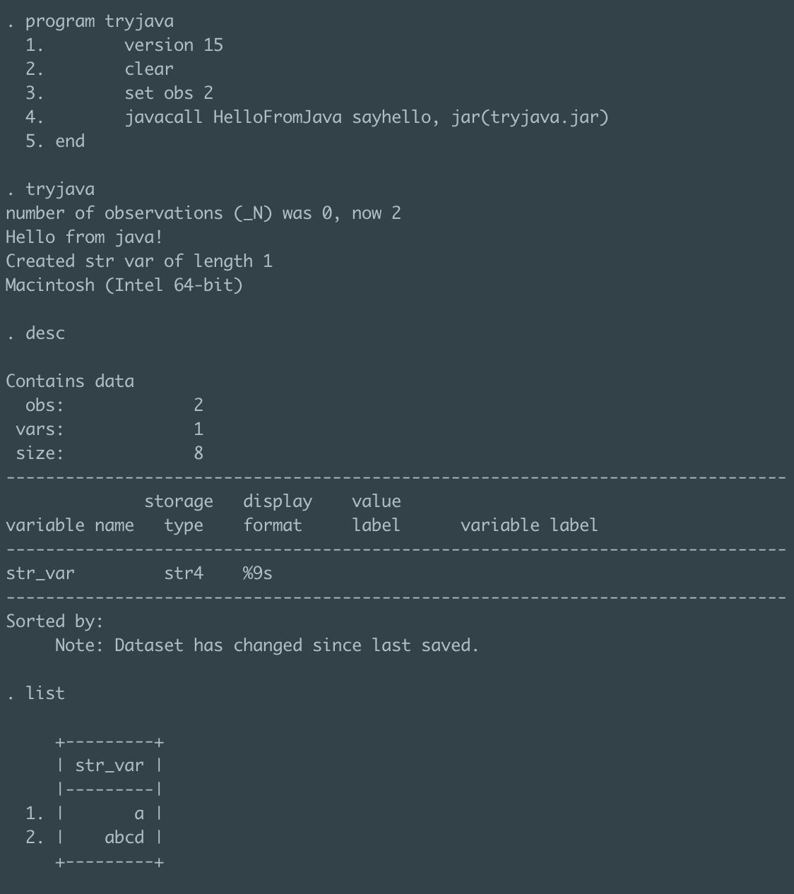 Rewrite in Java? · Issue #12 · mcaceresb/stata-parquet · GitHub