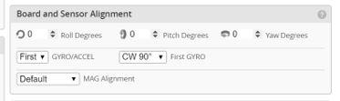 BF4 0 0 Board and Gyro Sensor Alignment settings Matek F405-AIO 20190425