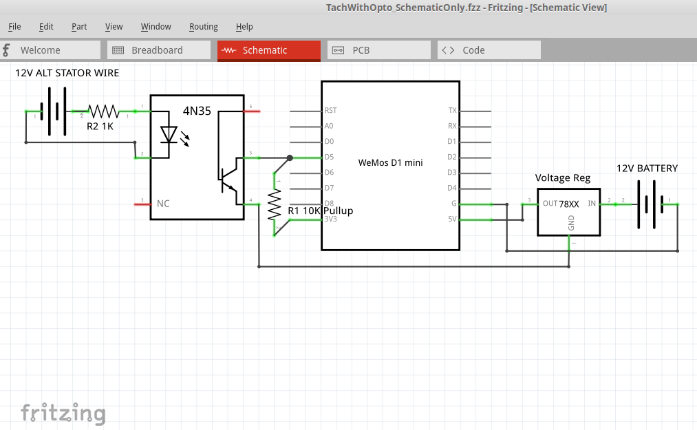 Fritzing schematic example