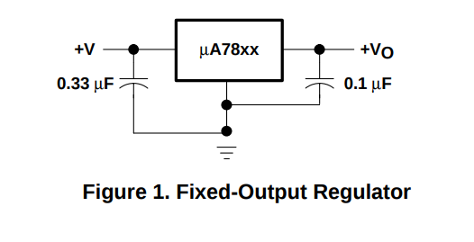 LM7805 with caps
