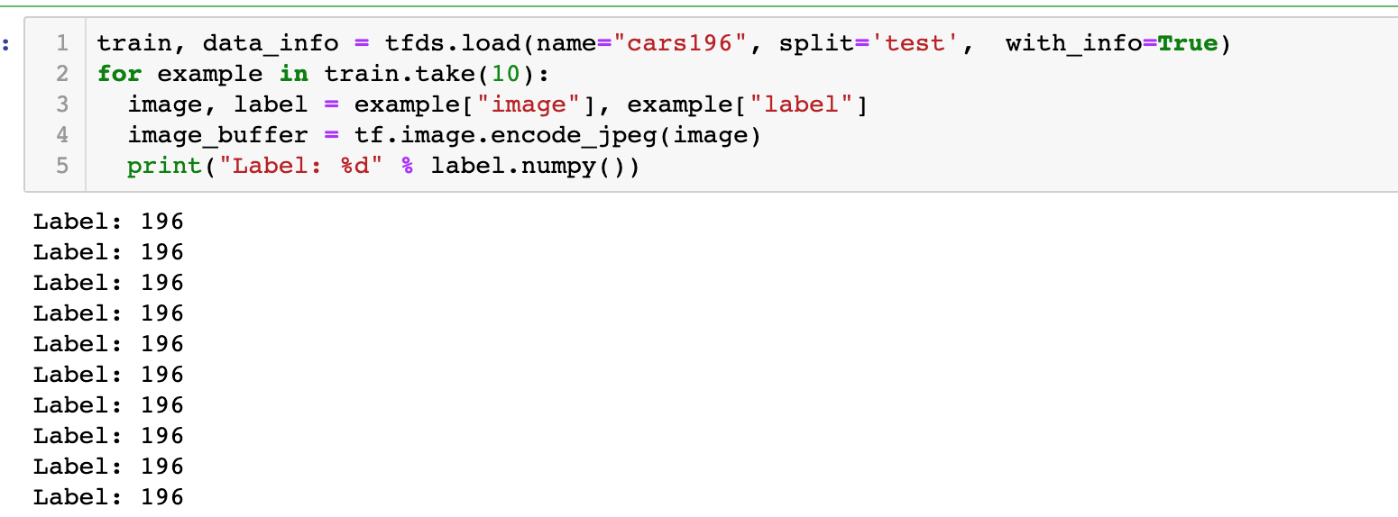 Add tests labels for `car196` dataset · Issue #1218