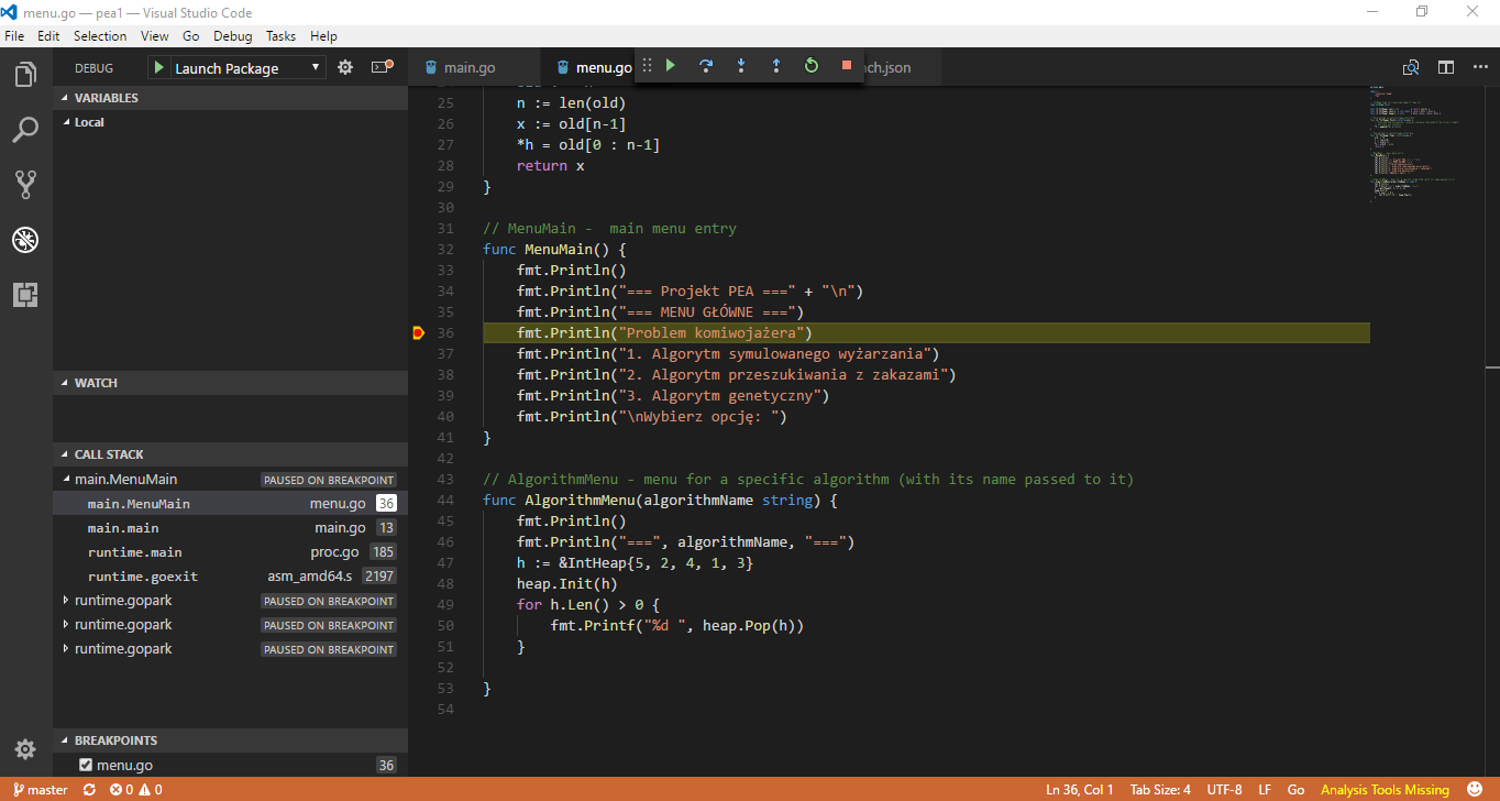 Debugging doesn't work · Issue #1135 · microsoft/vscode-go