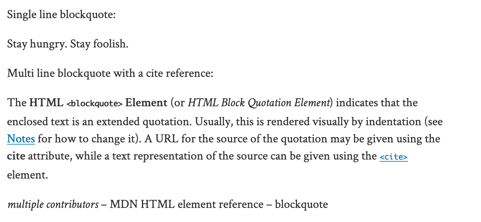 Blockquotes in Classic Editor are not styled · Issue #346