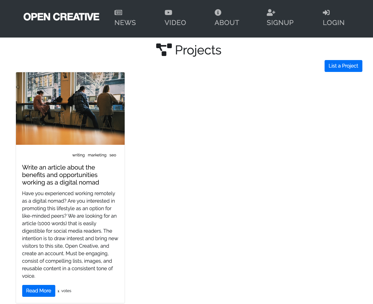 Open Creative - Projects