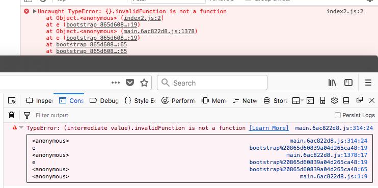 Firefox Quantum - Code doesn't unminify, despite having sourcemaps