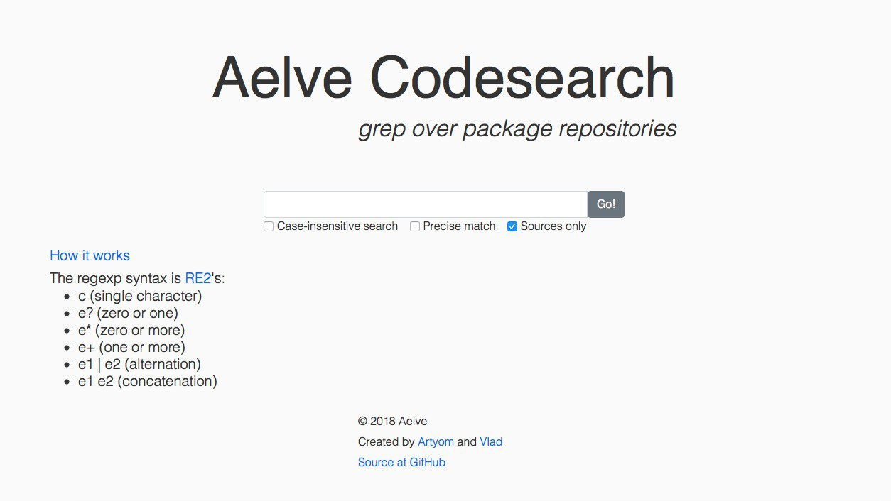 Versioned CSS · Issue #70 · aelve/codesearch · GitHub