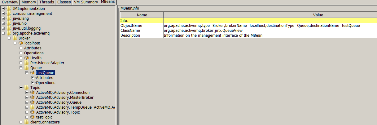 No queues are visible when session is opened on an embedded Apache