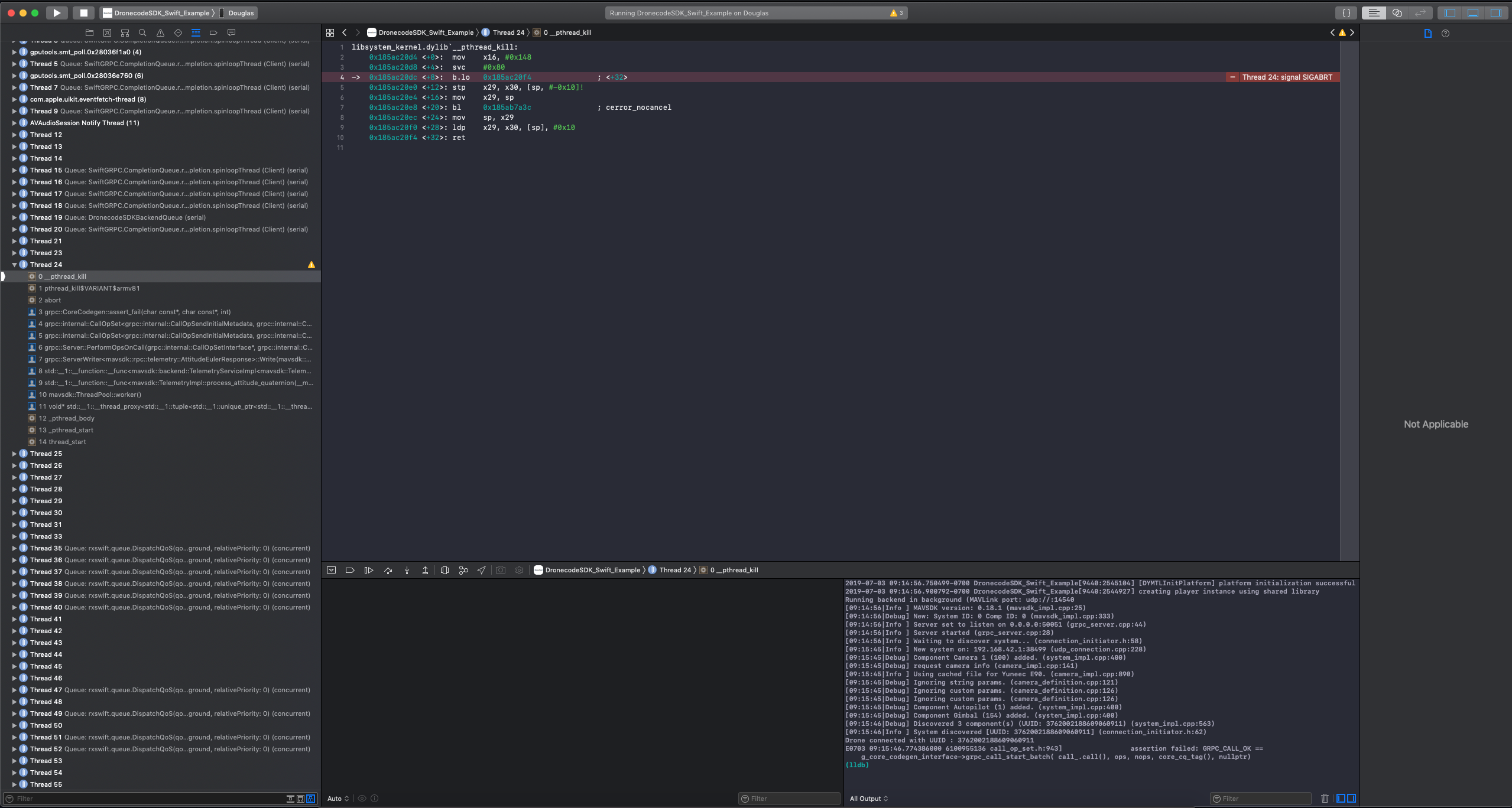 GRPC_CALL_OK crash · Issue #133 · mavlink/MAVSDK-Swift · GitHub