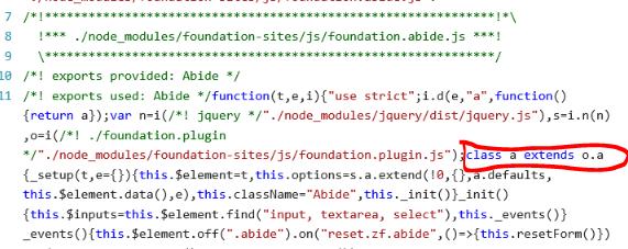 Typescript + webpack encore (with Babel) + foundation [syntax error