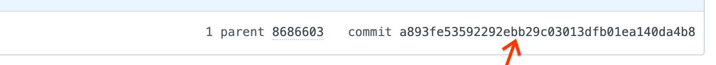 The commit sha