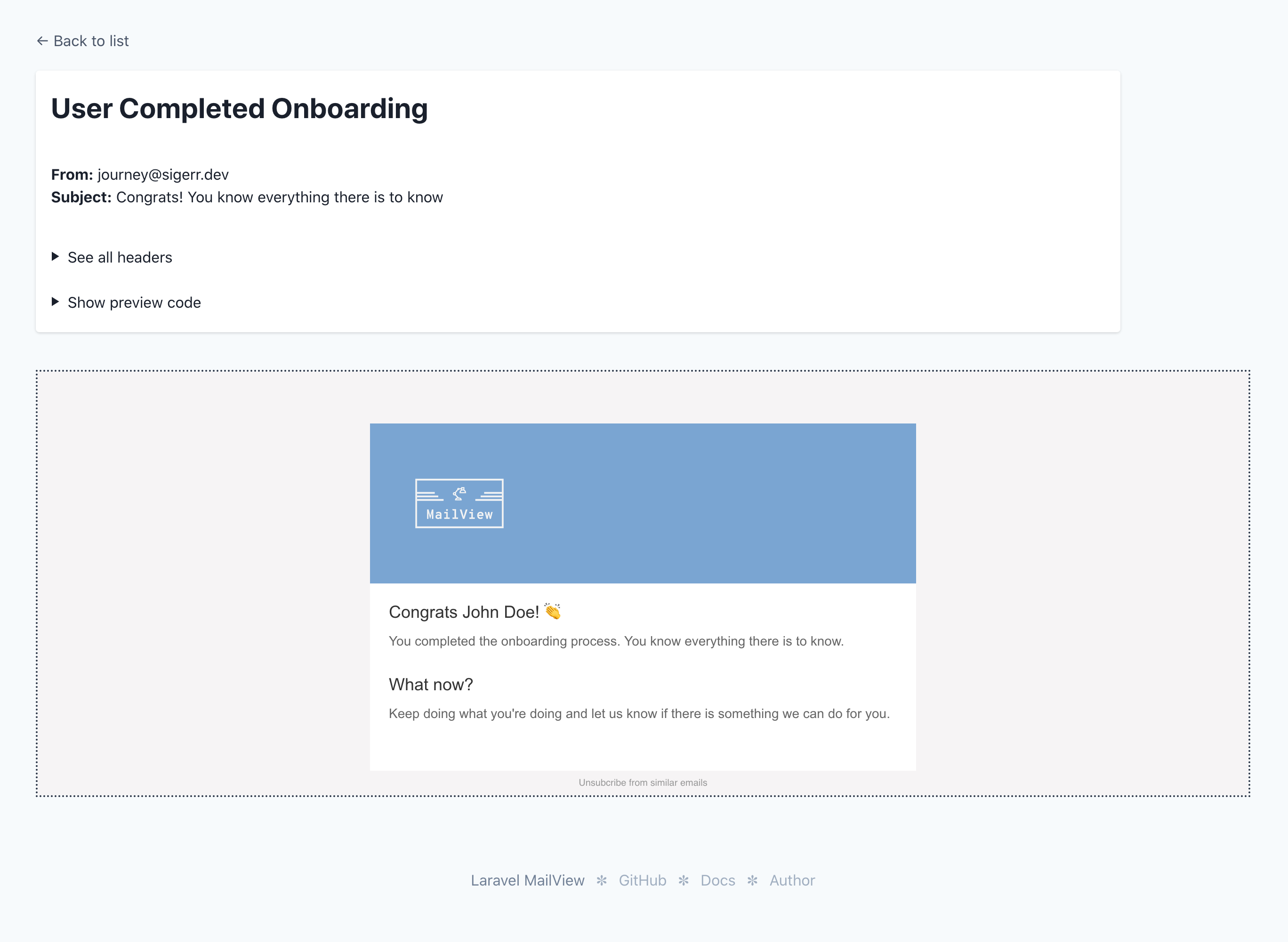 MailView render template screenshot