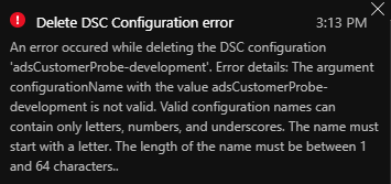 Azure Automation cmdlets allows illegal characters (hypens) in DSC