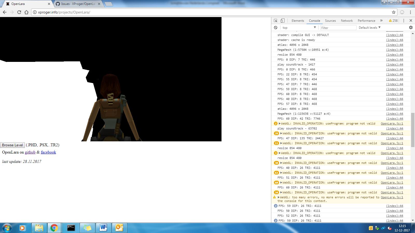 WebGL World not loading on windows 7 · Issue #99 · XProger