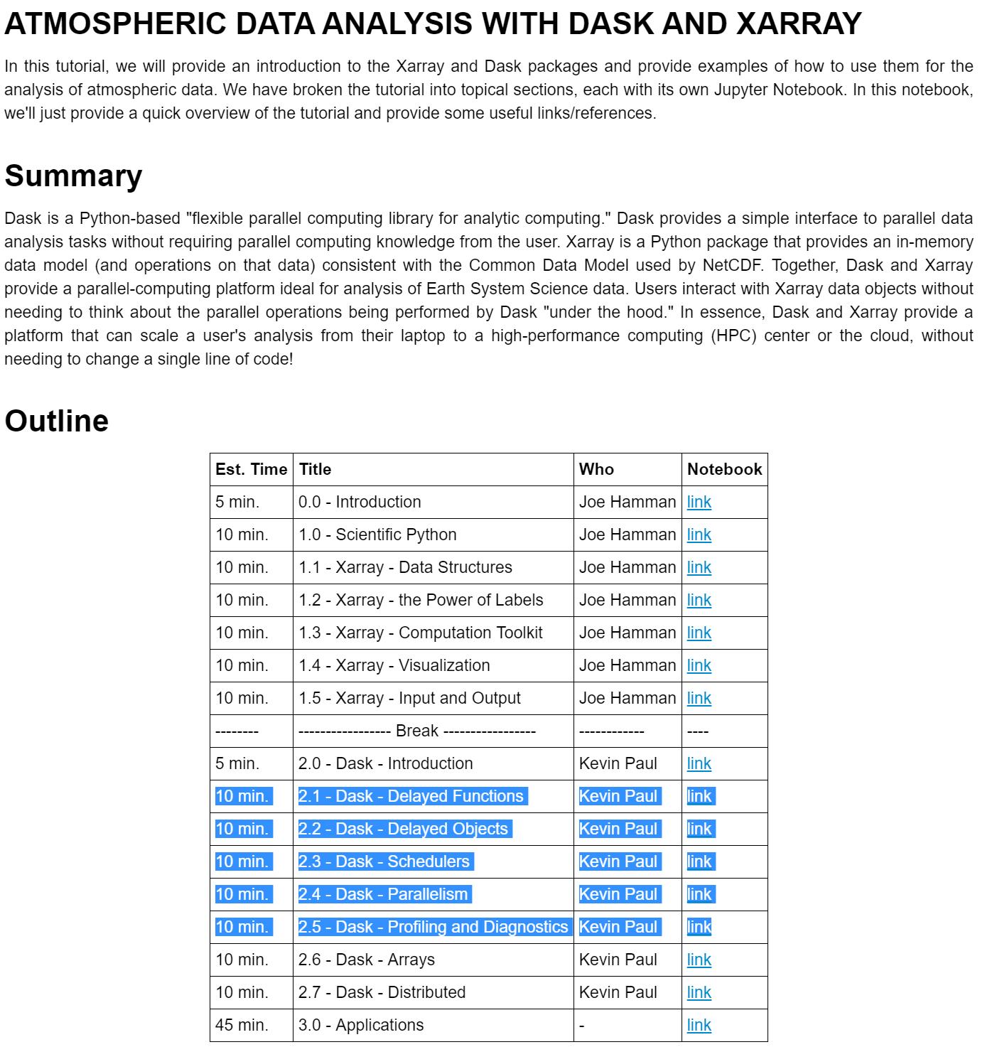 Tutorial links are broken · Issue #5 · pangeo-data/pangeo
