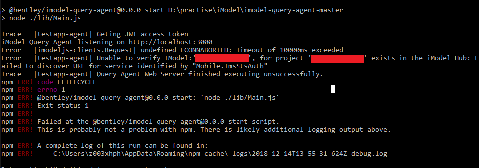 Unable to verify IModel Error · Issue #1 · imodeljs/imodel