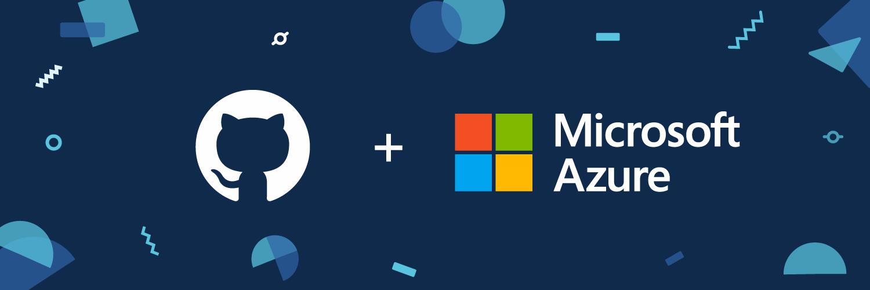 GitHub and Microsoft Azure partnership logo