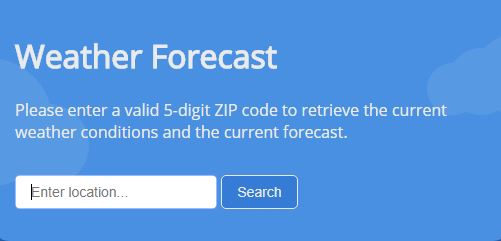 GitHub - severude/weather-api: Enter a valid zip code to retrieve