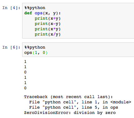 python prints traceback, no exception name or value · Issue #147