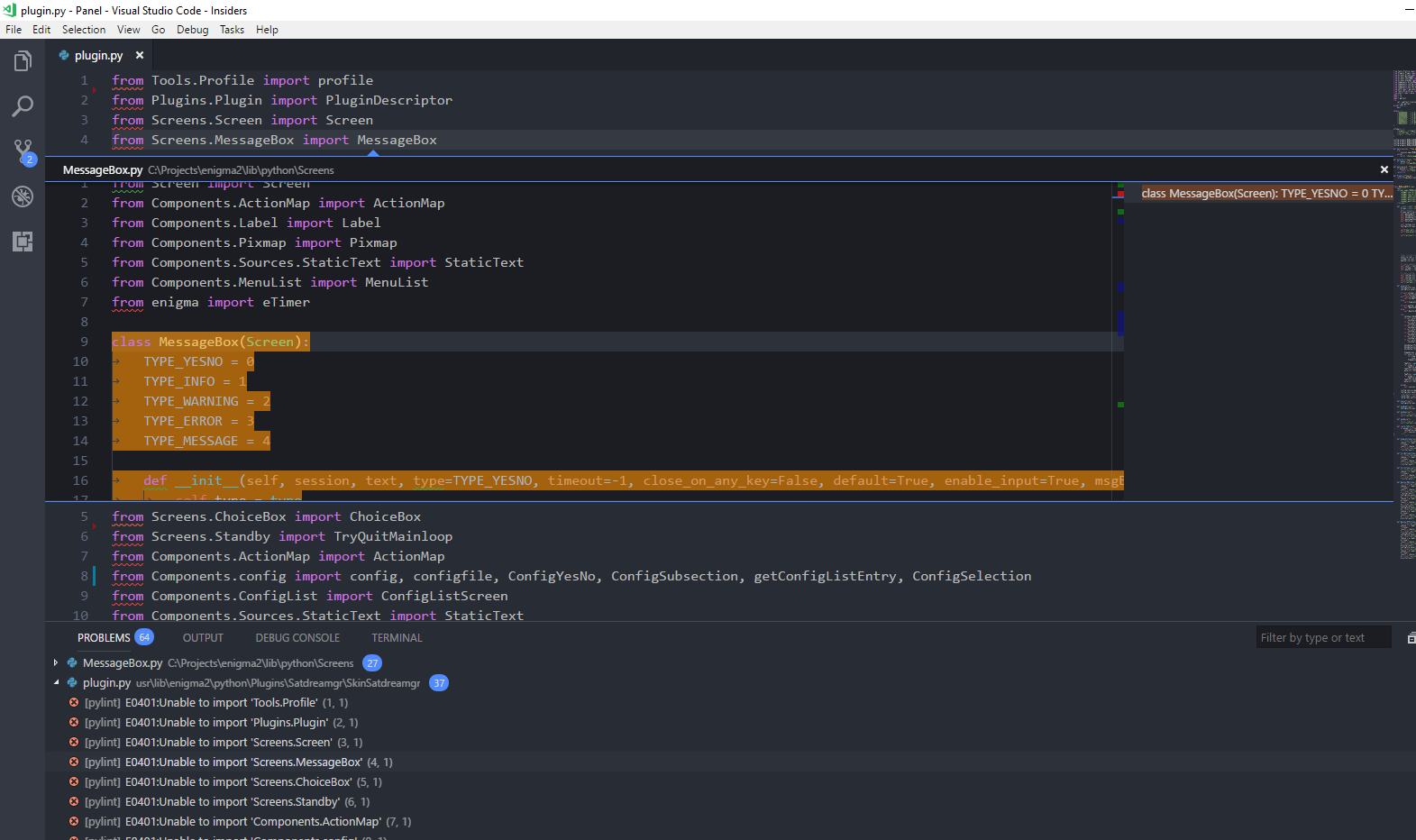 Intellisense and pylint don't work at all · Issue #719