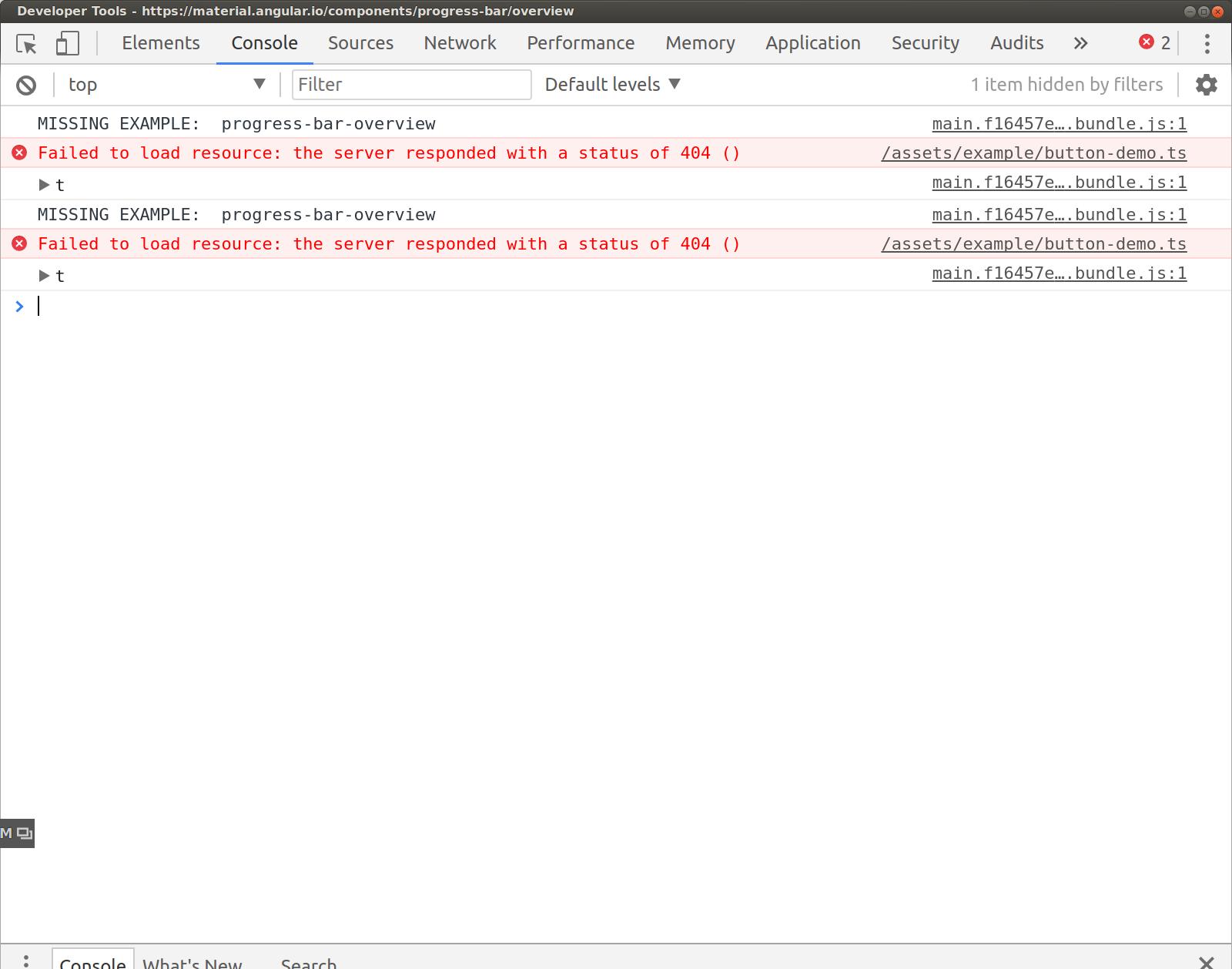 Progress bar docs example broken · Issue #8747 · angular/components