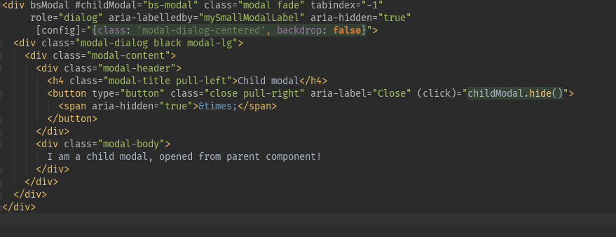 Angular 5 - Modals - class property in html not working · Issue