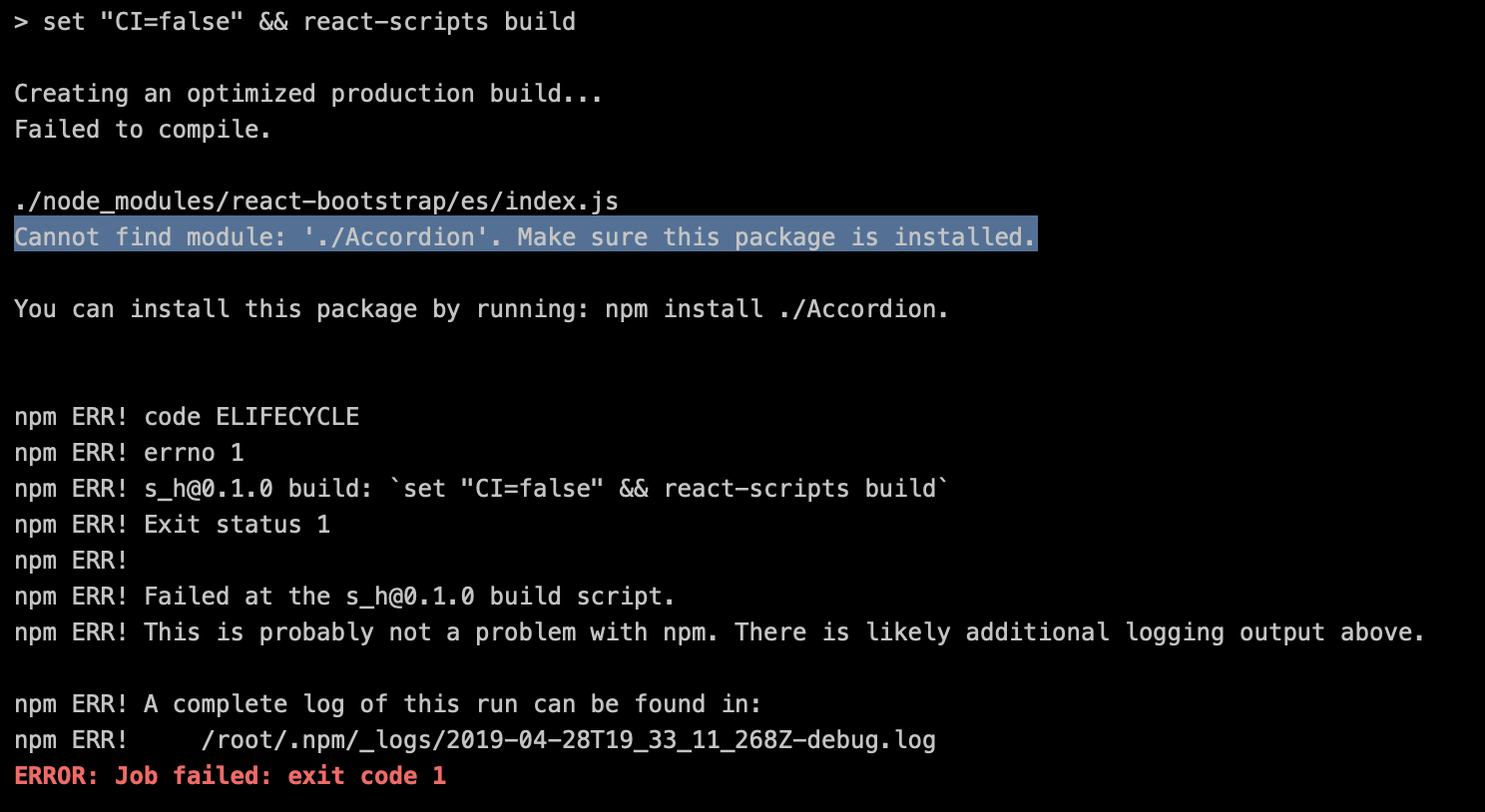 GitLab CI build fails - due to missing modules · Issue #3714
