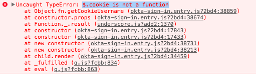 cookie is not a function · Issue #380 · okta/okta-signin-widget · GitHub