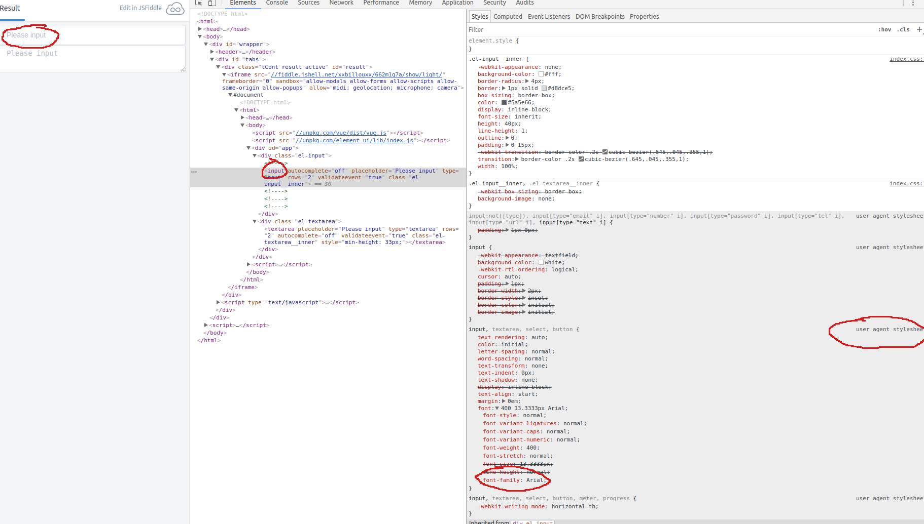Bug Report] CSS for textarea and for input is not the same