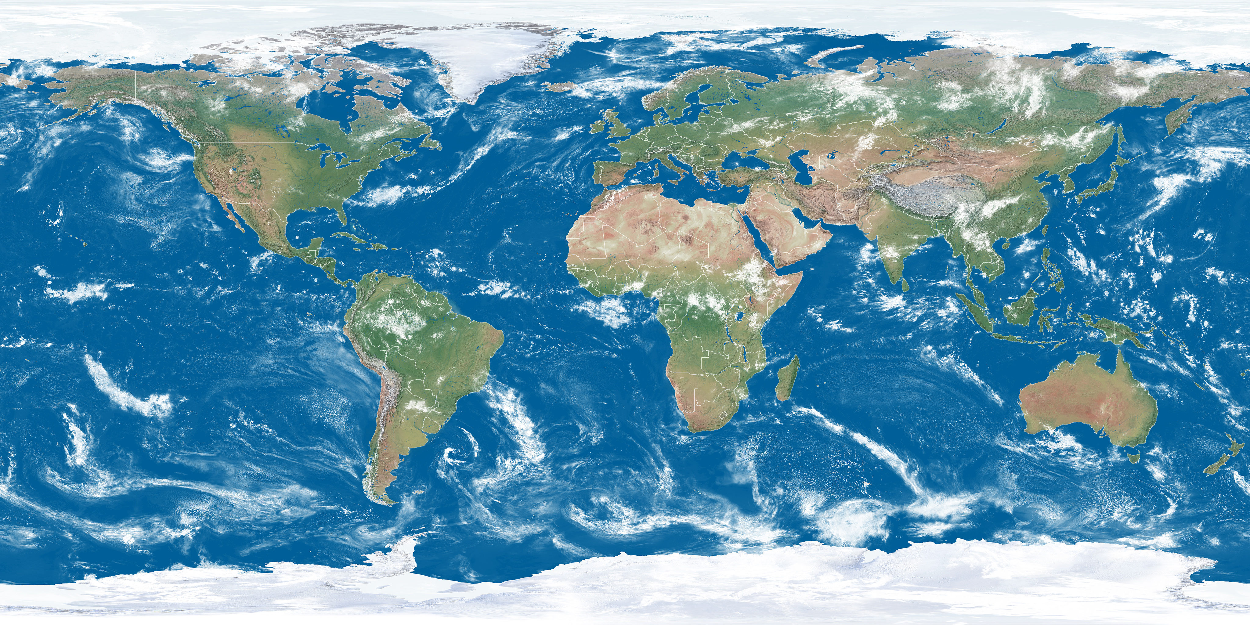 earth view map - HD 8192×4096