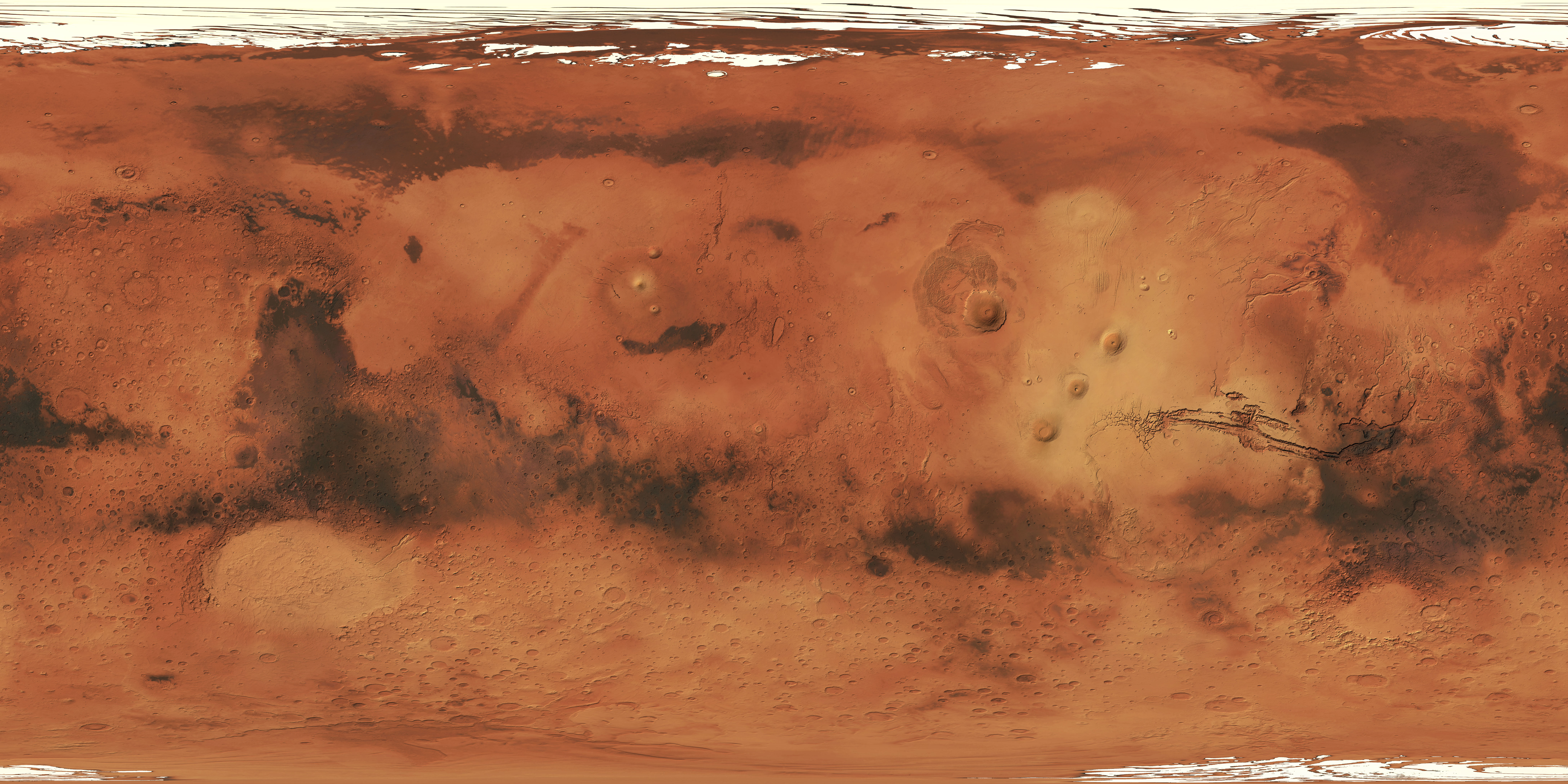 mars surface features - HD4096×2048