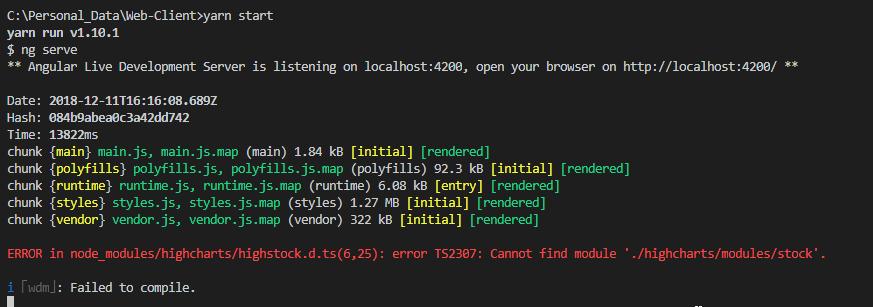 ERROR in node_modules/highcharts/highstock d ts(6,25): error