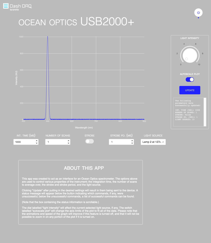 Dash Ocean Optics [PYTHON] · Issue #49 · plotly/dash-sample