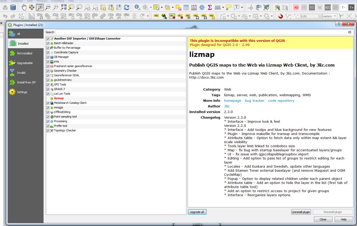 Qgis 3 0 - LIZMAP incompatible version · Issue #91 · 3liz