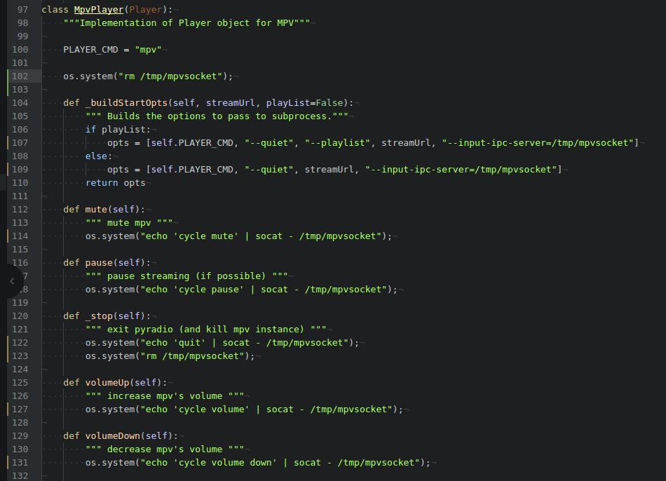 Improvement: Support MPV · Issue #48 · coderholic/pyradio · GitHub