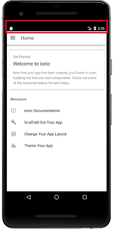 4 0 0 Rc 1 The Status Bar Renders As Black Text On A Black Background For Android Versions Nougat 7 0 Issue 17086 Ionic Team Ionic Framework Github
