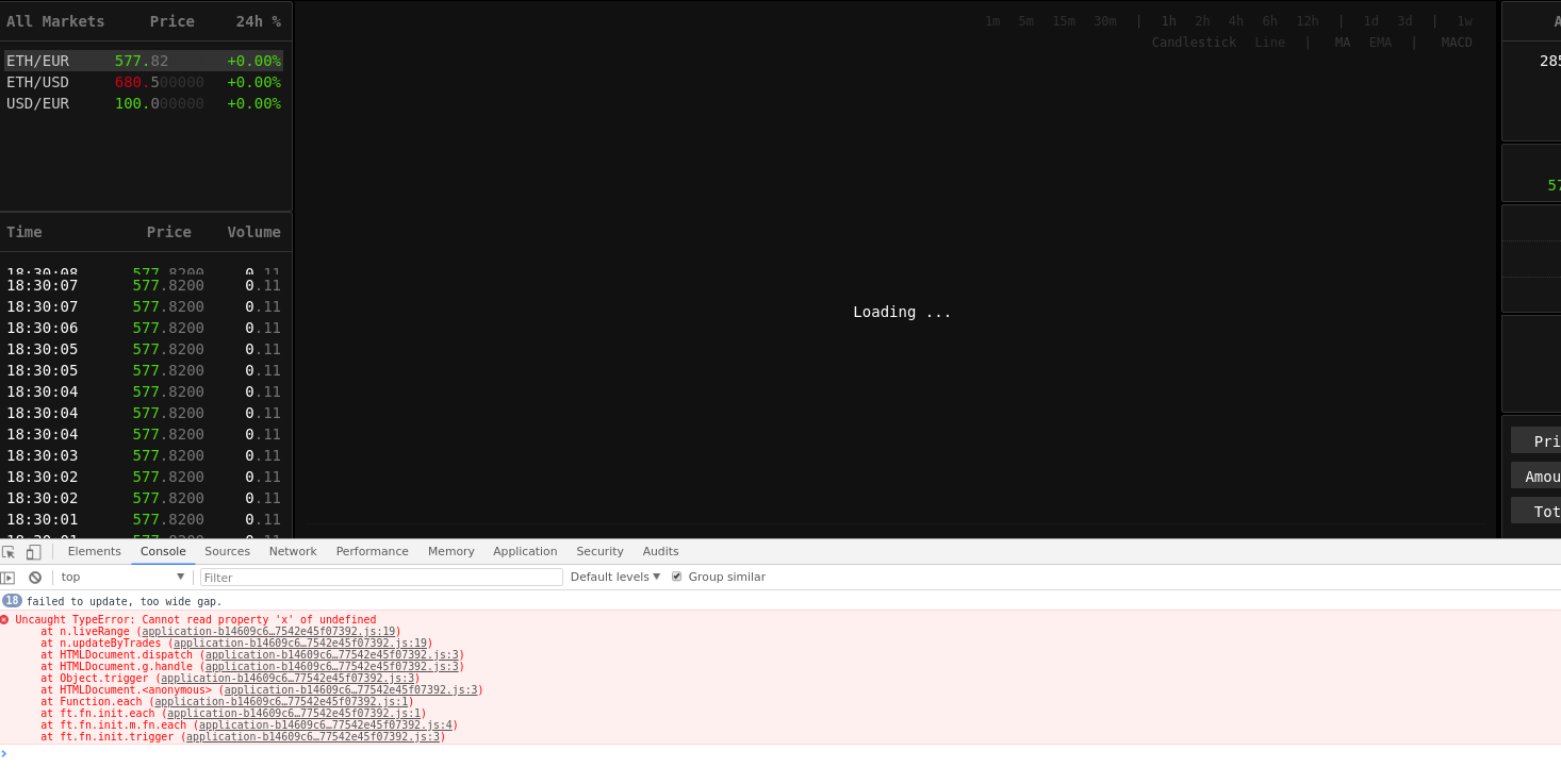 Trade page is broken under high load · Issue #38 · rubykube/peatio