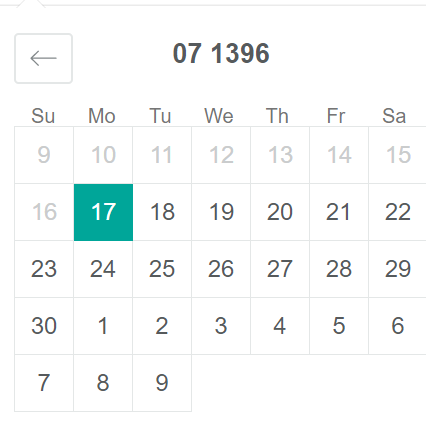 months are starting based on gregorian calendar · Issue #755
