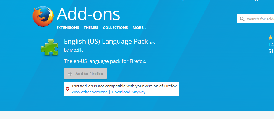 Language packs are not compatible with FF56 · Issue #6543