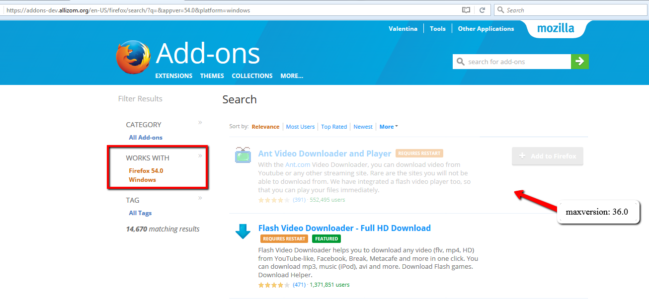 Cannot search for 57+ addons *only* · Issue #6009 · mozilla