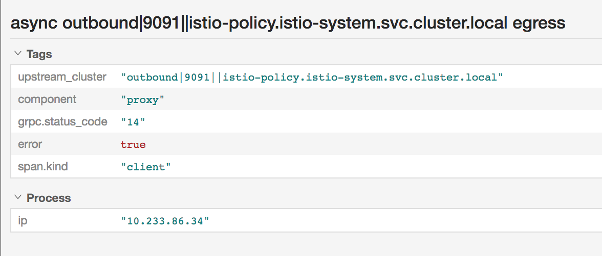 async outbound|9091||istio-policy istio-system svc cluster