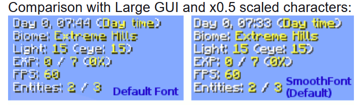 SUGGESTION] Change default font to minecraft font · Issue #123