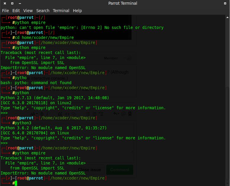 ImportError: No module named OpenSSL however it's installed